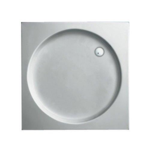 Douchebak Plieger Luxury Kunststof Acryl Vierkant Met Ronde Inzet 90x90x9cm Wit