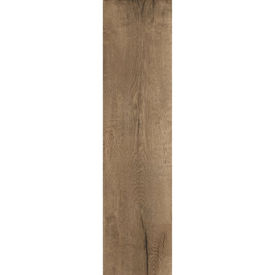 Vloertegel Timewood Brown 30x120 cm Sant'Agostino (doosinhoud 1.44m2)