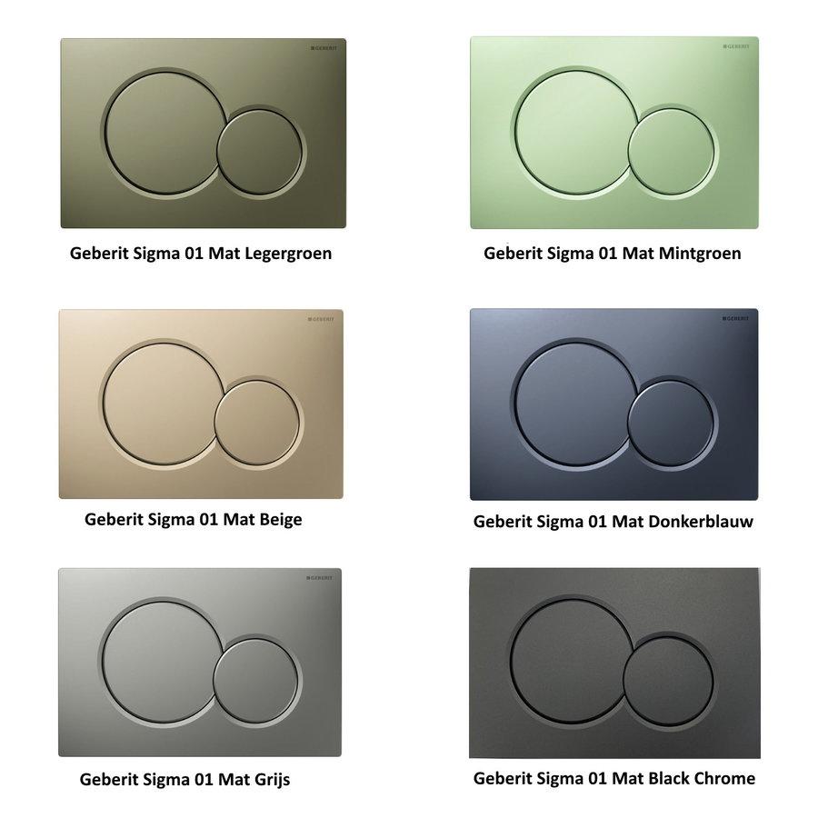UP320 Toiletset 01 Basic Wandcloset Softclose Met Sigma Drukplaat