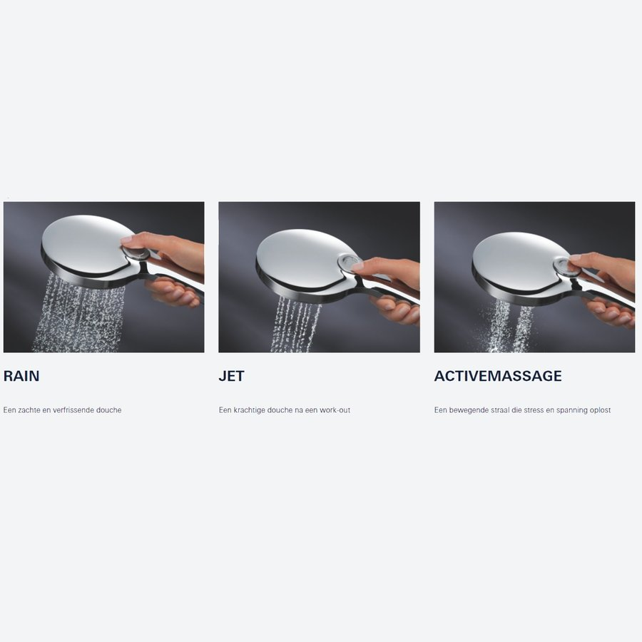 Handdouche Grohe Rainshower SmartActive 130 Cube 13 cm Chroom