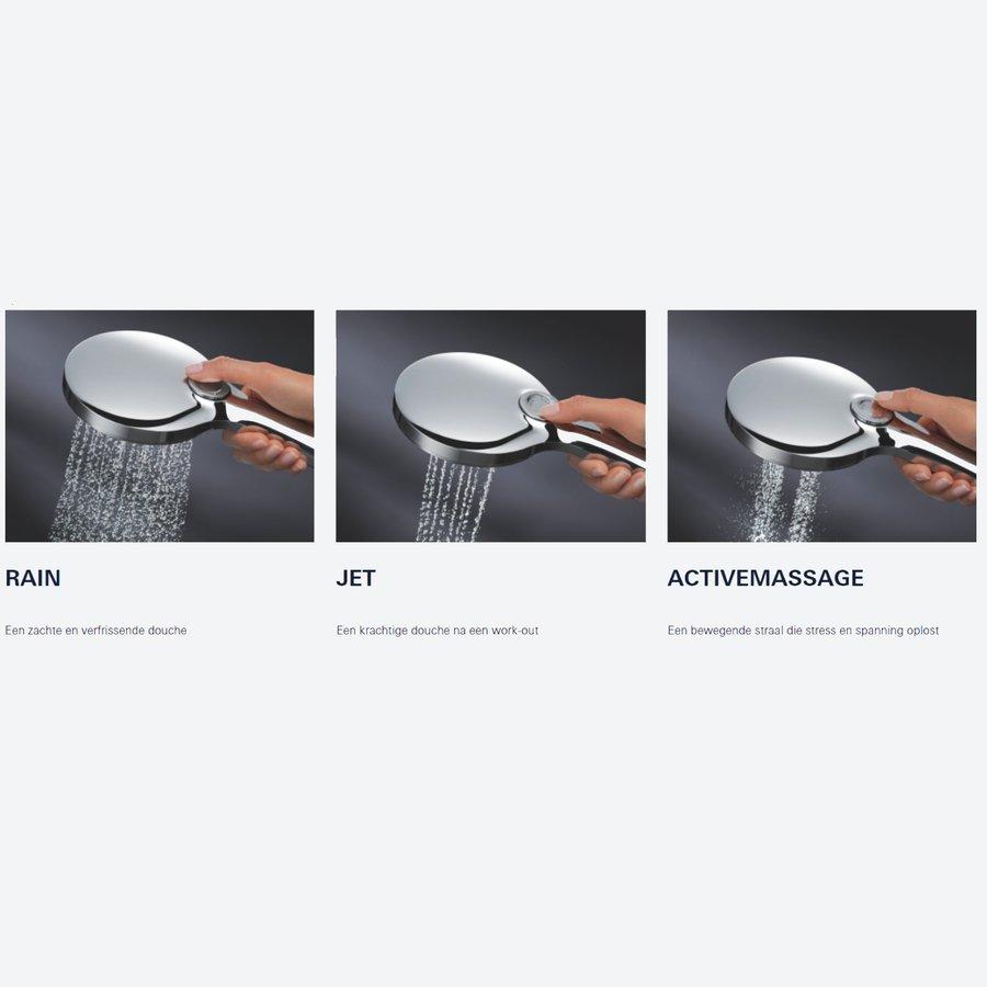 Handdouche Grohe Rainshower SmartActive 130 Cube 13cm Cool Sunrise Geborsteld (Mat Goud)