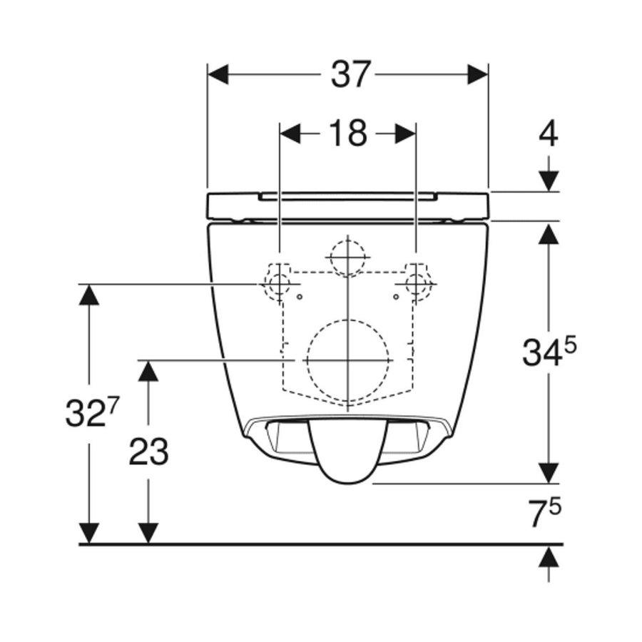Geberit UP320 Toiletset set69 Geberit ONE Rimless Diepspoel Turboflush Wit met Sigma 30 drukplaat