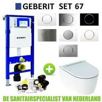 Geberit UP320 Toiletset set69 Geberit ONE Rimless Diepspoel Turboflush Wit met Sigma 10 drukplaat