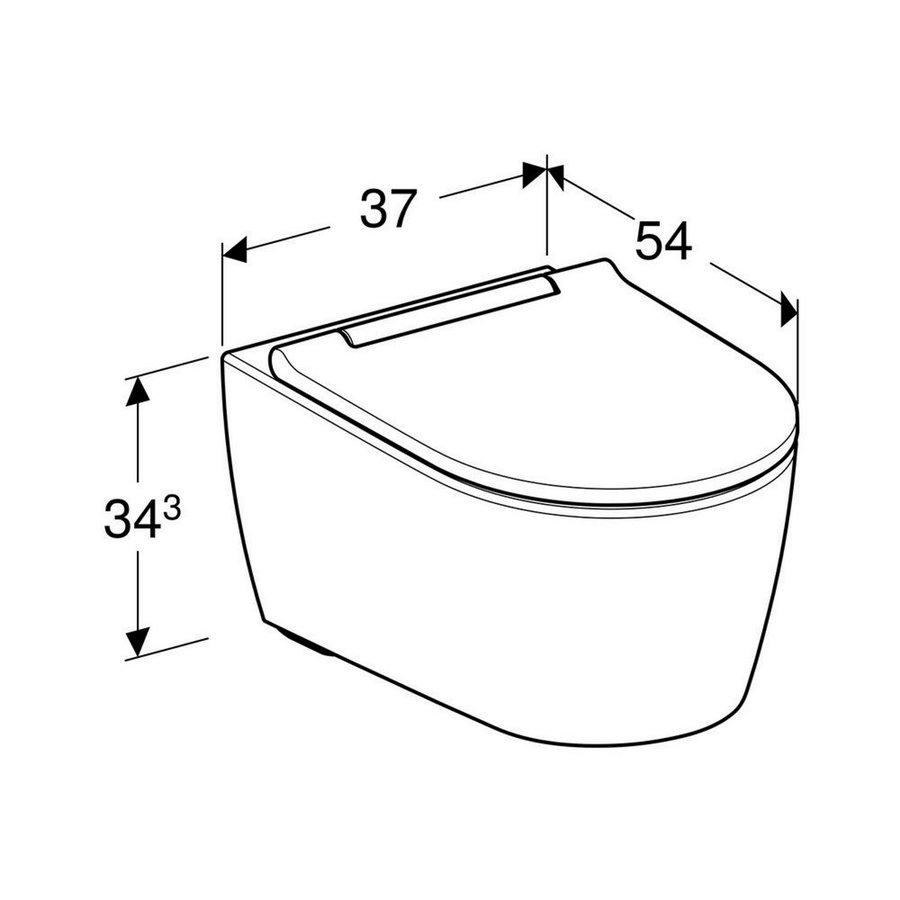 Geberit UP320 Toiletset set69 Geberit ONE Rimless Diepspoel Turboflush Wit met Sigma 01 drukplaat