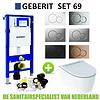 Geberit Geberit UP320 Toiletset set69 Geberit ONE Rimless Diepspoel Turboflush Wit met Sigma 01 drukplaat