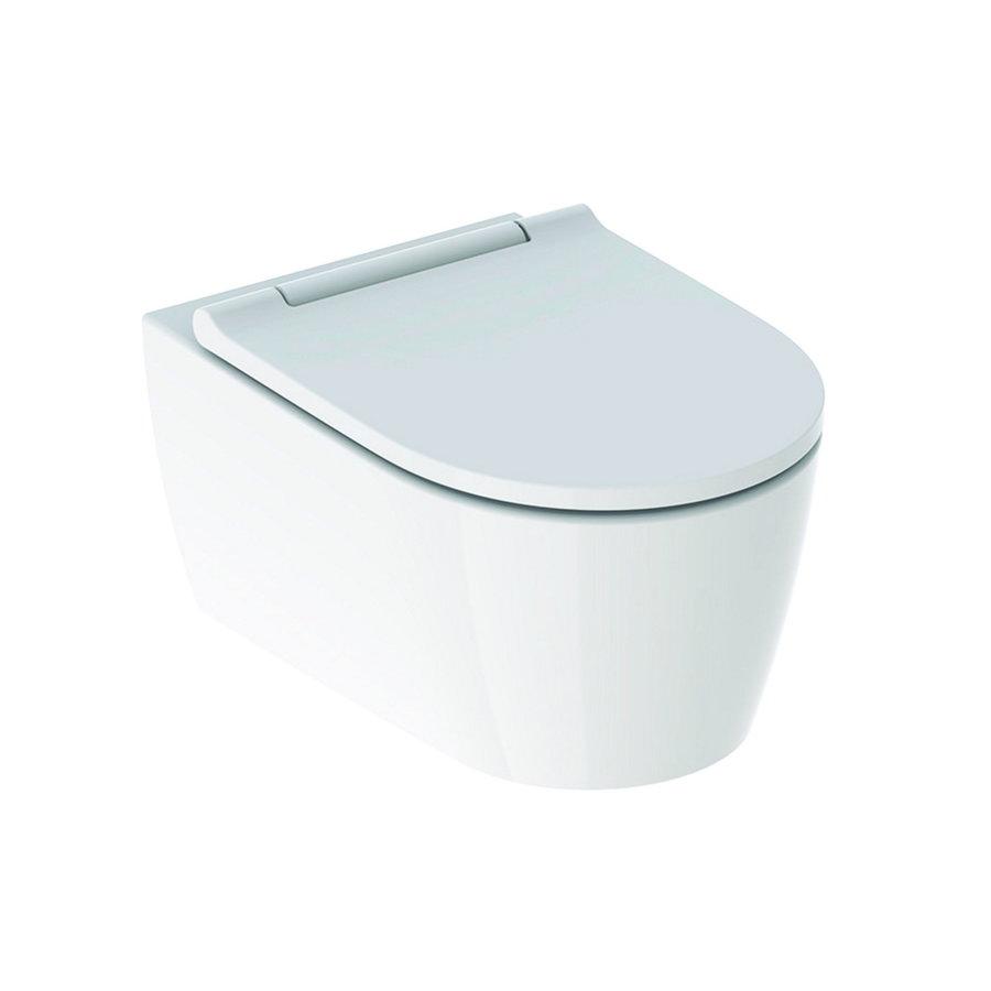 Geberit UP100 Toiletset set68 Geberit ONE Rimless Diepspoel Turboflush Wit Met Delta drukplaat