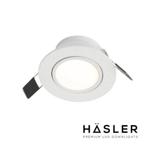 Inbouwspot Häsler Ancona Incl. Fase Aansnijding Dimbaar 8 cm 4 Watt Warm Wit RVS (Meerdere Spots)