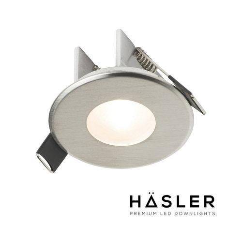 Inbouwspot Häsler Ferrara Incl. Fase Aansnijding Dimbaar 6,8 cm 4 Watt Warm Wit RVS Set (Meerdere Spots)