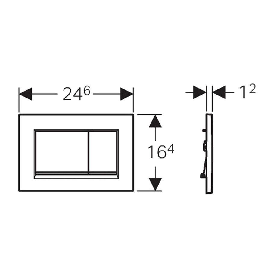 Geberit Sigma 8 (UP720) Toiletset set45 Mudo Rimless Met Sigma 30 Drukplaat