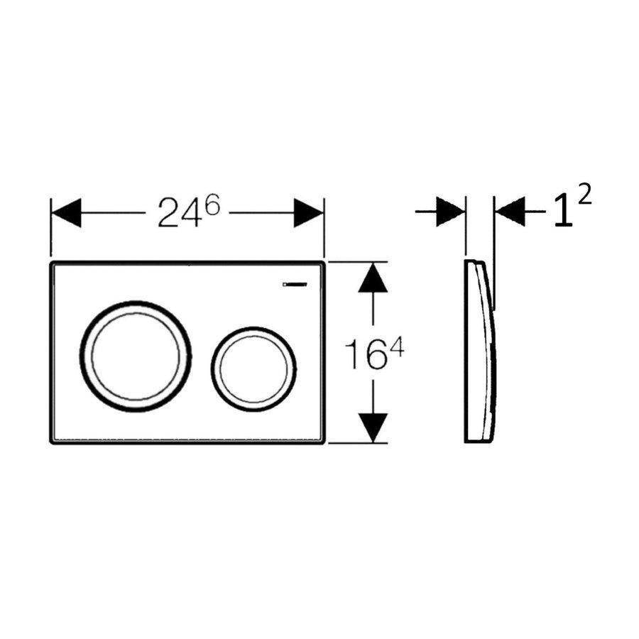Geberit Sigma 8 (UP720) Toiletset set45 Mudo Rimless Met Sigma 20 Drukplaat