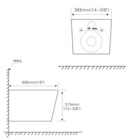 Geberit Sigma 8 (UP720) Toiletset set45 Mudo Rimless Met Sigma 10 Drukplaat
