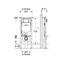 Geberit Sigma 8 (UP720) Toiletset set45 Mudo Rimless Met Sigma 01 Drukplaat