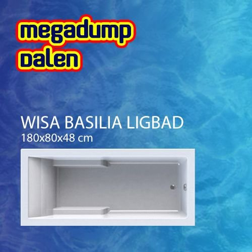 Basilia shower bad/douchecombinatie 180x80cm wit