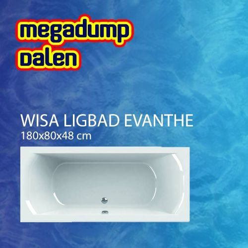 ligbad Evanthe 180x80 cm wit