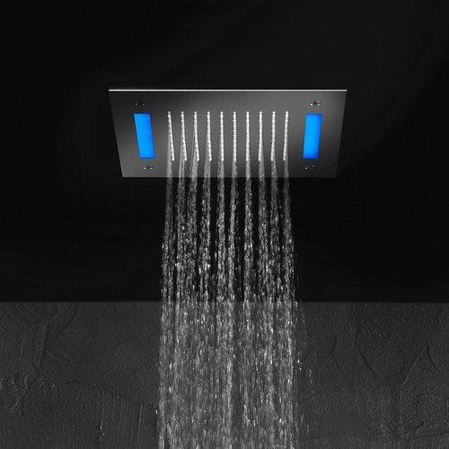 Mate Hoofddouche Met Led En Water Sensor Vierkant 30 Cm M172