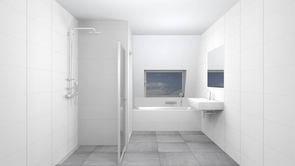 Badkamer En Tegels : Wandtegels 30x90 glans wit gekalibreerd p m² megadump dalen