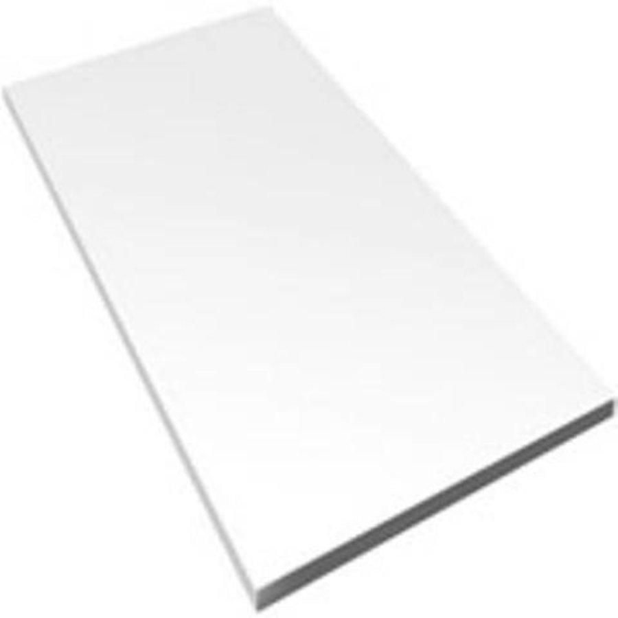 Wandtegels 30x90 mat wit gekalibreerd P/M²
