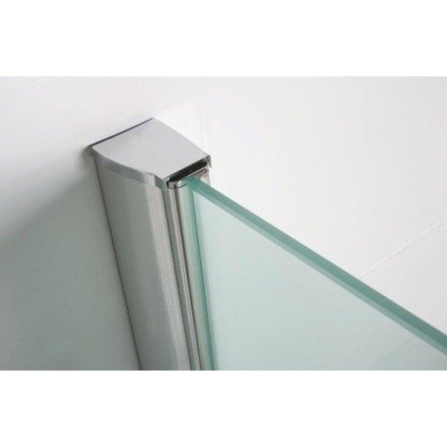 Chroom Muurprofiel Glaswand 200Cm