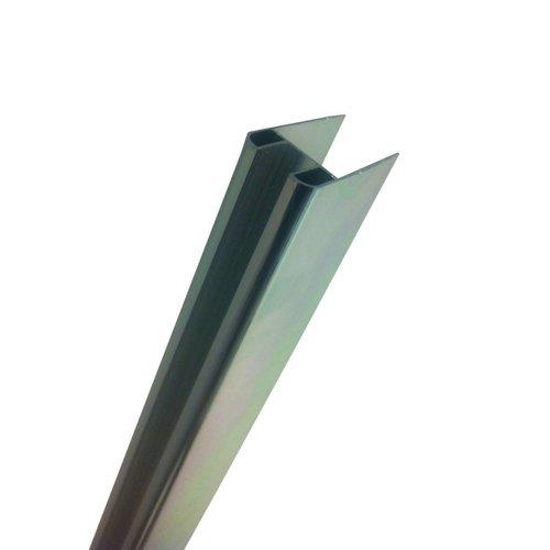Chroom Glasprofiel Voor Muurprofiel Glaswand 10 Mm 200 Cm