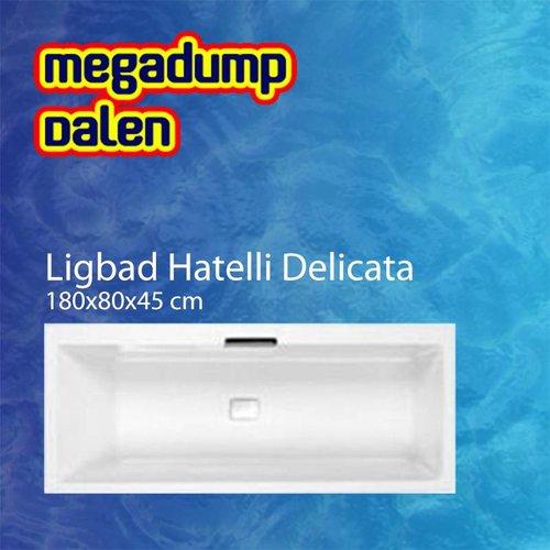 Ligbad Hatelli Delicata 180x80x45 cm wit