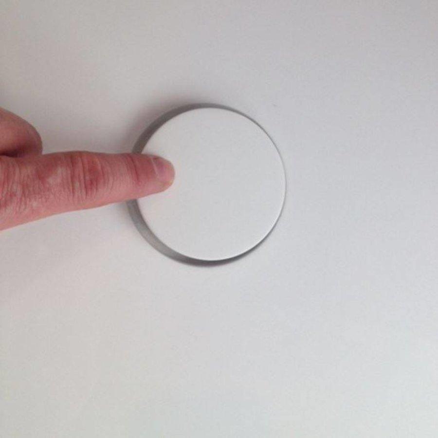 Waskom Astoria opbouw Glans wit 42 cm Solid Surface