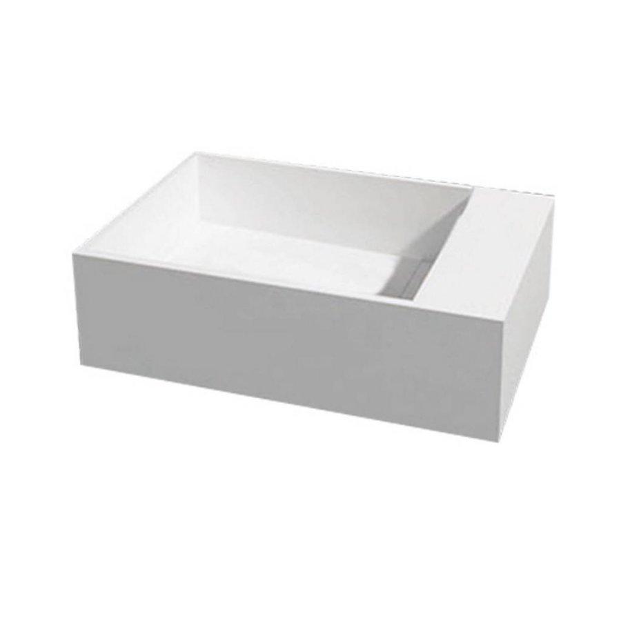 Fontein U50 Just Solid 50x30x15cm (Kraangat rechts)