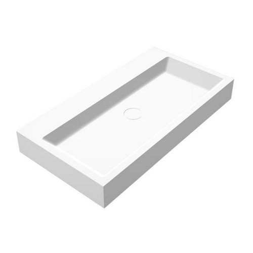 Wastafel Opera-80 Just Solid Surface 80x42x10cm