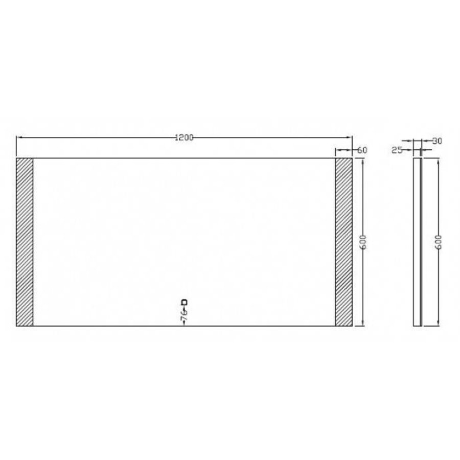 Spiegel Sunny Dimbare Led 60X120 Cm