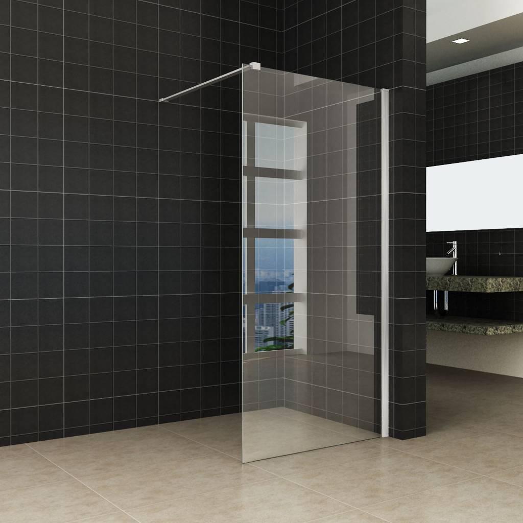 Glazen Douchewand 120x200.Aqua Splash Douchewand Met Rvs Profiel 120x200 Cm 10mm Nano Glas Douchewanden