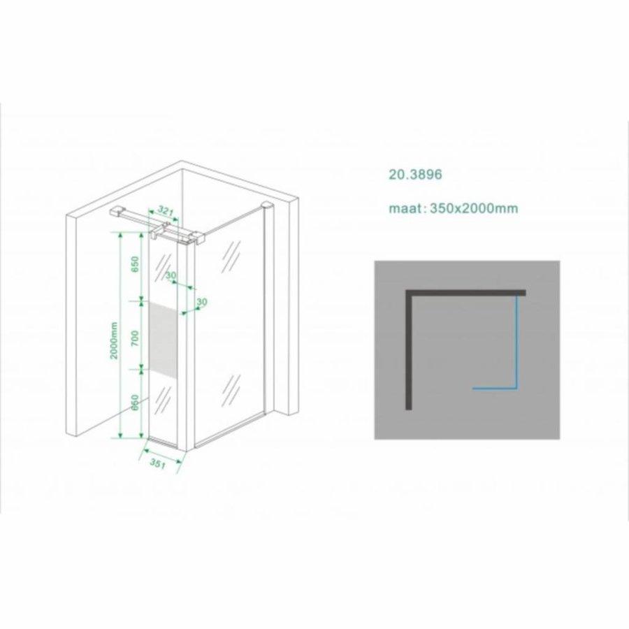 Zijwand Hoekprofiel 35X200 10Mm Nano Mat