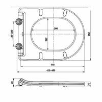 Hangtoilet Vesta Diepspoel Wit (Inclusief Flatline Zitting)