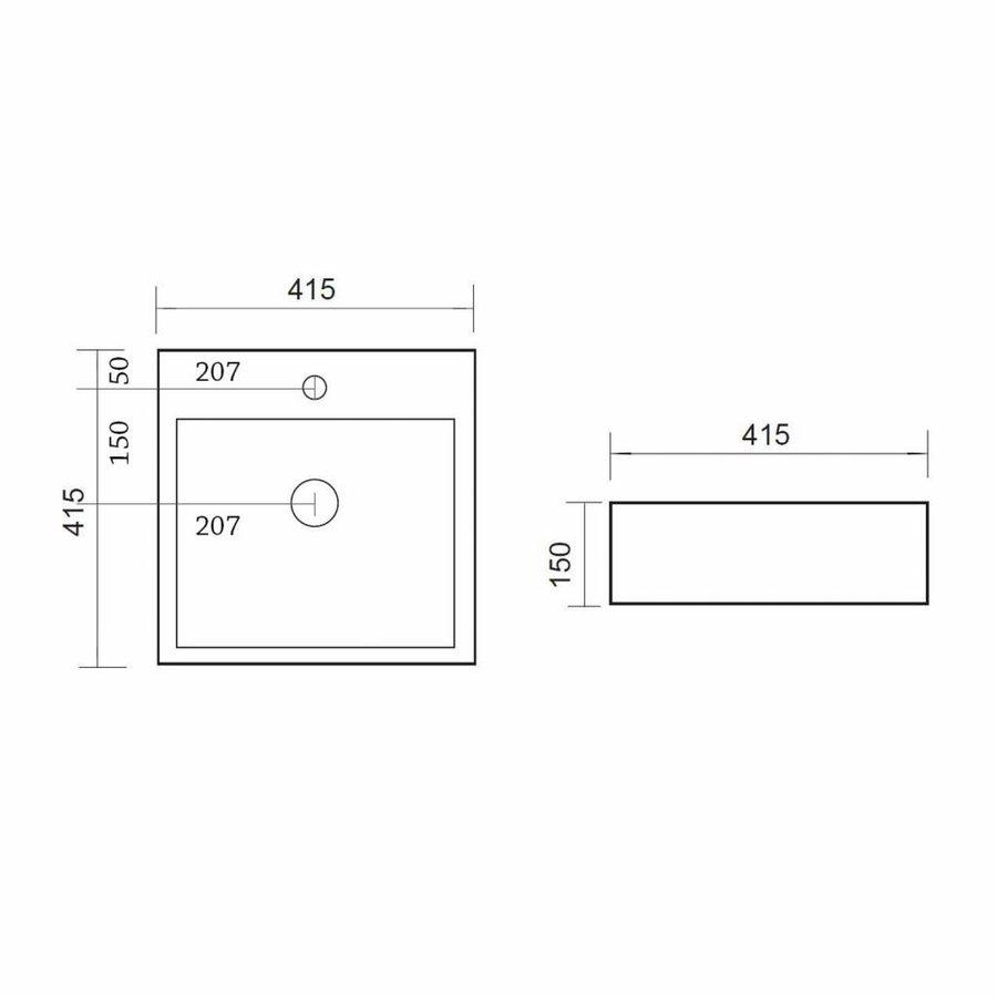 Wastafel Store vierkant 41x41x15 cm