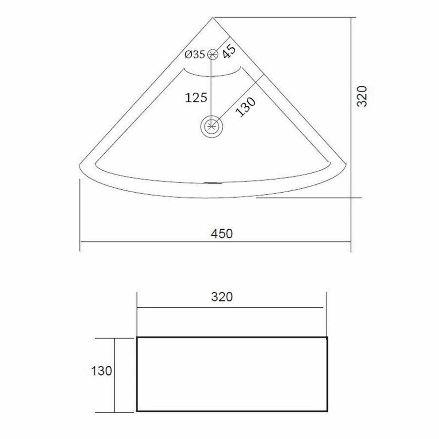Fonteinset Floor One Pack Hoekmodel 32.5x32.5cm
