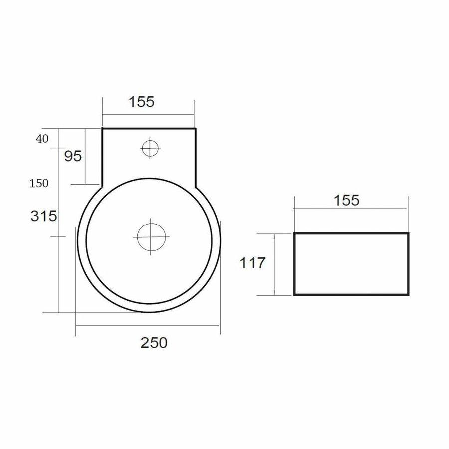 Fontein Sun Rond 16x30x11,5cm