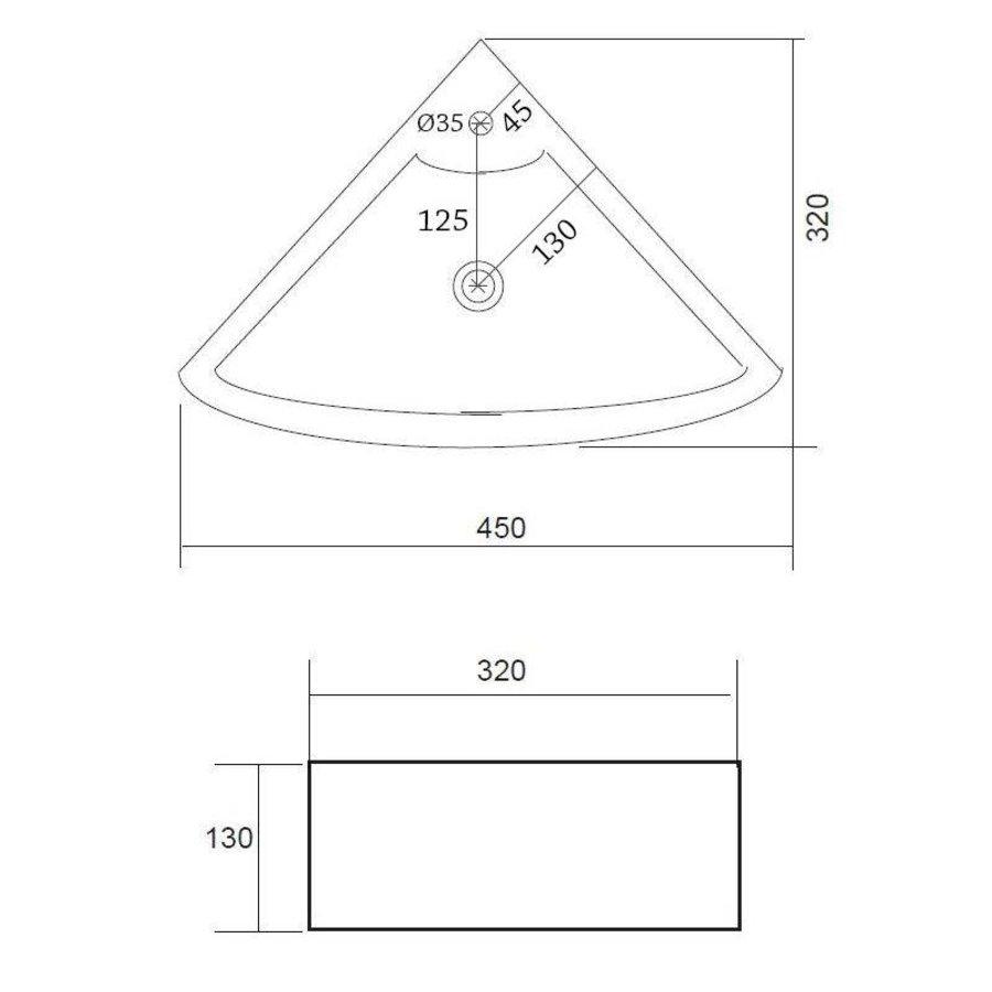 Fontein Floor Hoekmodel 32.5x32.5cm