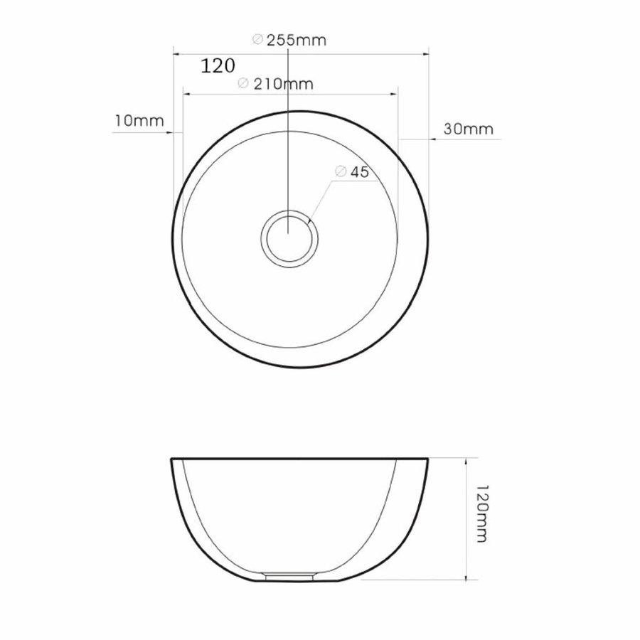 Fontein Round Ø25cm Opbouw