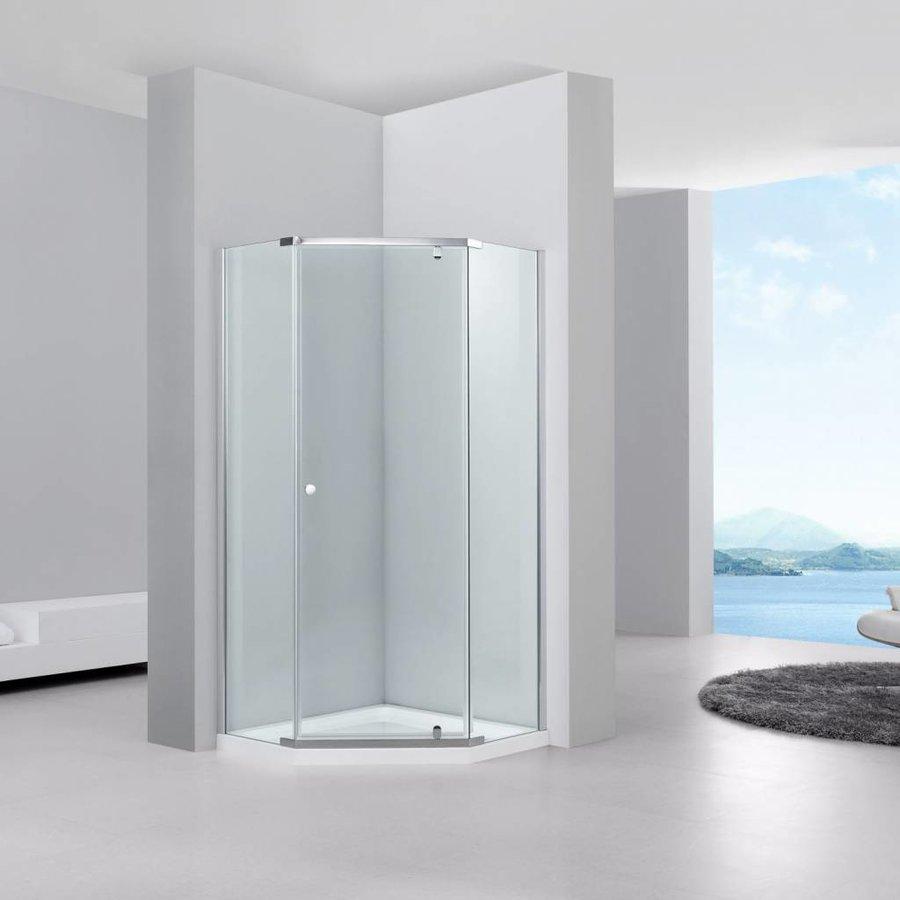 Douchecabine Vijfhoek Solo 100x100x200cm 6mm Glas
