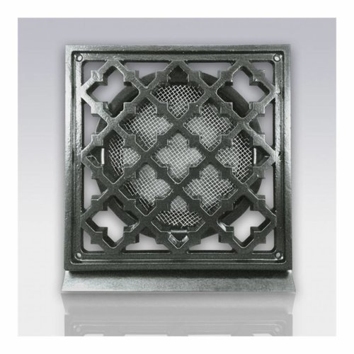 Deurrooster Retro Vierkant Aansluiting 12,5 cm