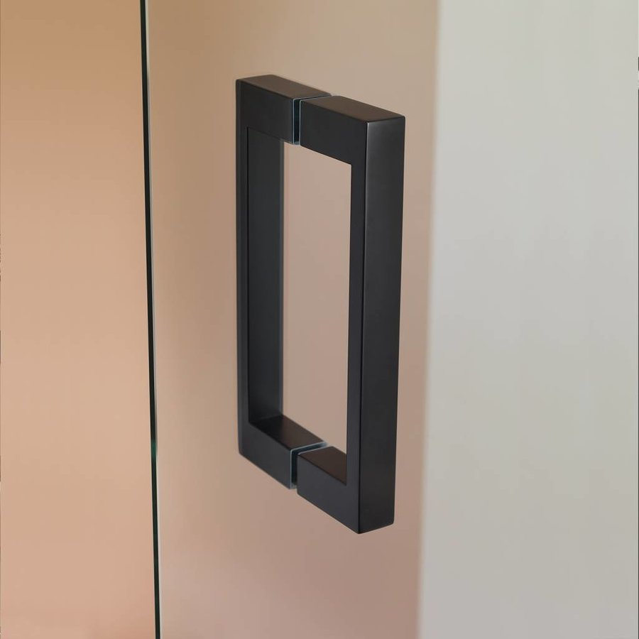 Douchecabine 'I AM' 90x90 cm Mat zwart Helder glas + Antikalk