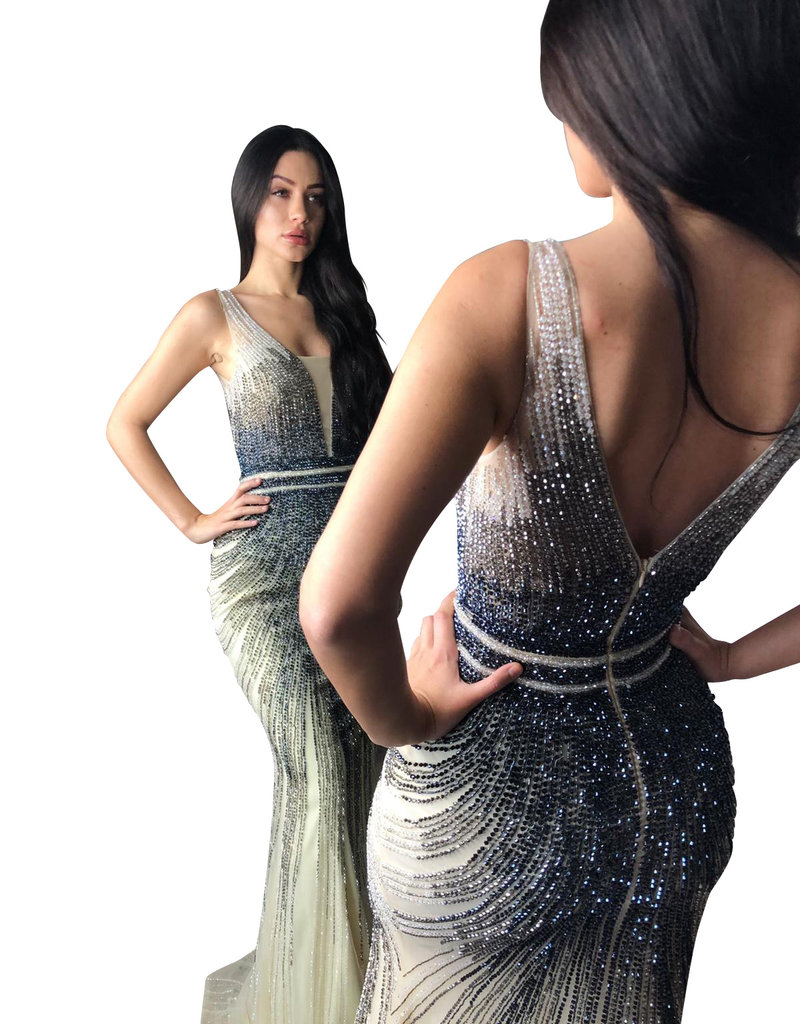 Unique Dresses Nargis Silver Cristal Dress