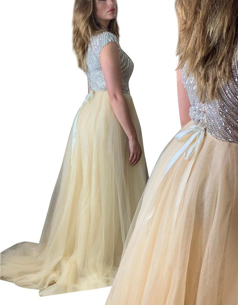 Unique Dresses Lysan Beaded Nude Dress