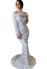 Unique Dresses Jamila White Glitter Dress