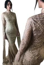 Unique Dresses Zohra Golden Glitter Dress