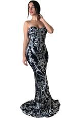 Unique Dresses Valdrina Silver Black Dress