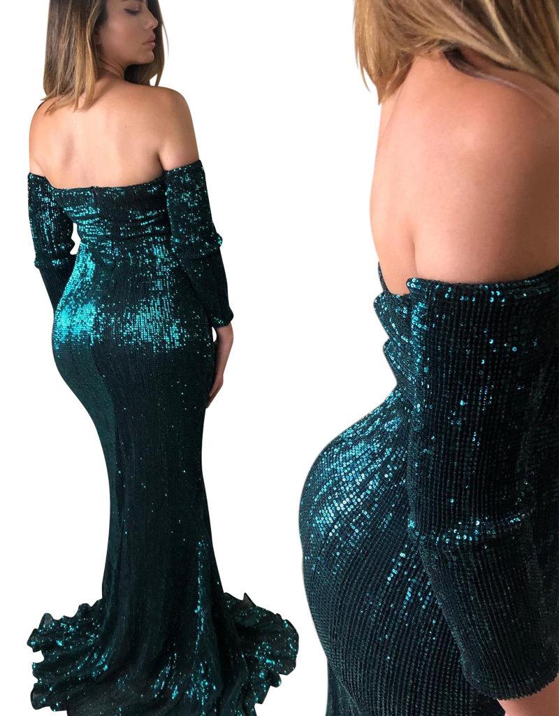 Unique Dresses Amira Olive Green Dress