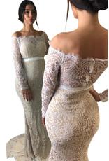 Unique Dresses Maja White Nude Lace Dress