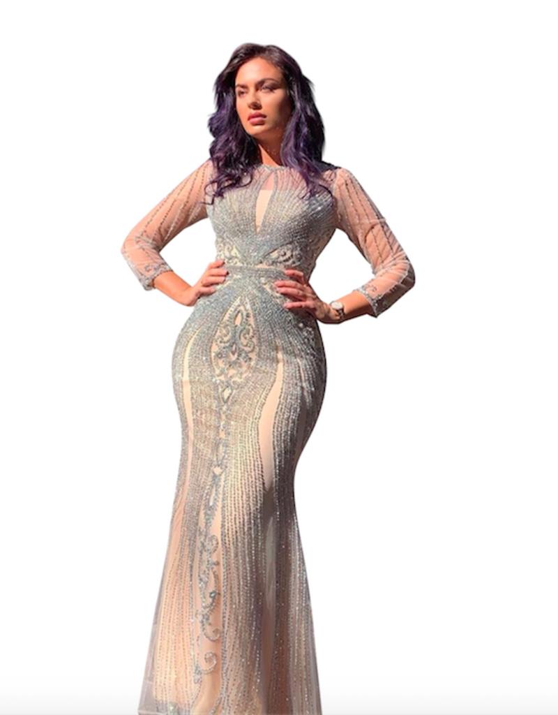 Unique Dresses Armina Long Sleeve Gown