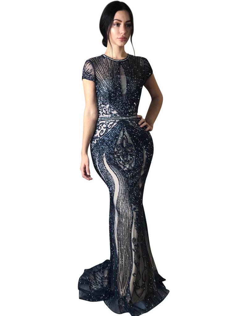 Unique Dresses Armin Navy Gown