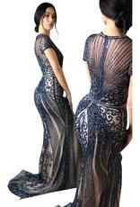 Unique Dresses Armin Navy Gown