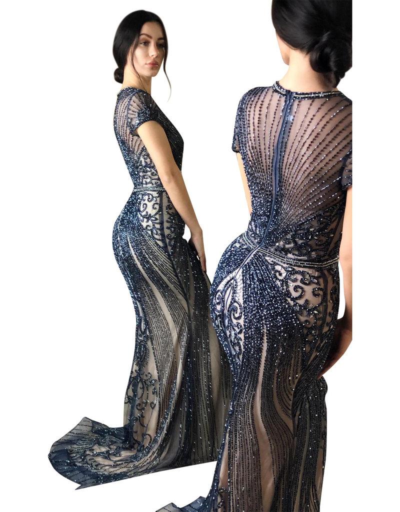 Unique Dresses Armina Navy Gown